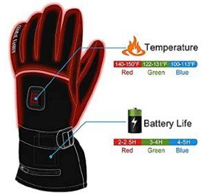 HEAT WARMER Men Women Winter Rechargeable Battery Heated Gloves