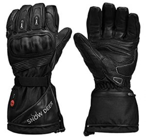 SNOW DEER Heated Motorcycle Gloves