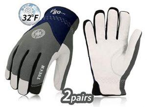 Vgo 3M Thinsulate C40 Goatskin Leather Waterproof Work Gloves