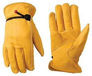 Wells Lamont Men's Leather Work Gloves with Adjustable Wrist