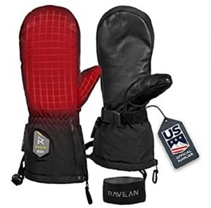 Ravean snowmobile heated mitts